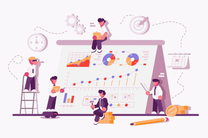 Strategy, concept and design illustration